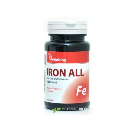 Vitaking Iron All Vas komplex 100 db