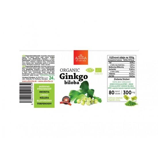 Altevita BIO Ginkgo Biloba 80 kps