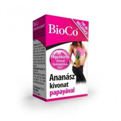 BioCo Ananásový extraxt s papájou - 100tbl