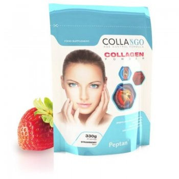 Kolagénový prášok jahodový 330g (Collango)