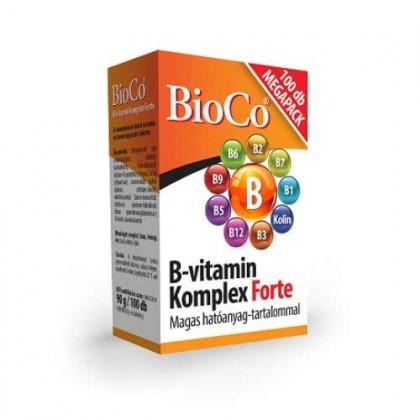 BioCo Vitamín B-komplex FORTE 100tbl