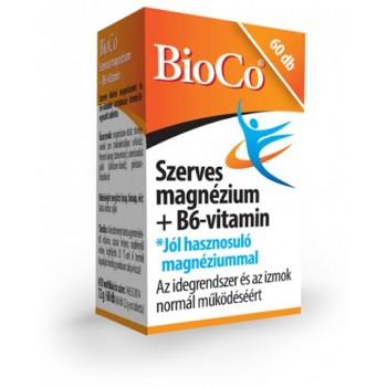 BioCo  Organické magnézium (horčík)+vitamín B6    60tbl
