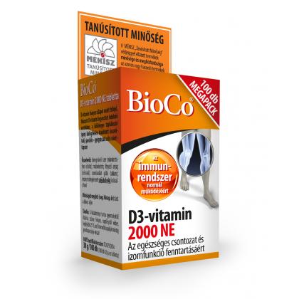 BioCo Vitamín D3 2000 NE  MEGAPACK    100ks