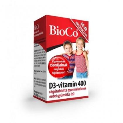 BioCo Vitamín D3 – žuvacie tabletky pre deti 60tbl