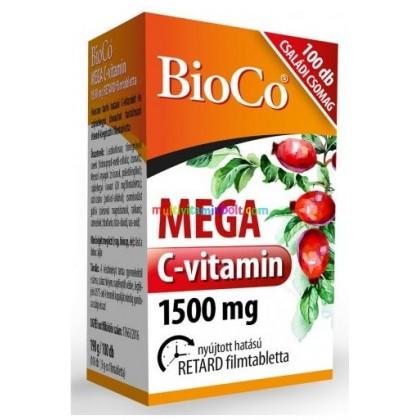 BioCo  Vitamín-C MEGA 1500 mg,   100tbl – rodinné balenie